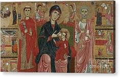Virgin And Child Enthroned With Saints Leonard And Peter And Scenes From The Life Of Saint Peter Acrylic Print