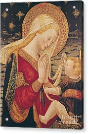 Virgin And Child  Acrylic Print by Neri di Bicci