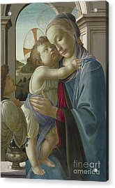 Virgin And Child With An Angel Acrylic Print