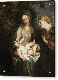 Virgin And Child With Saint Catherine Of Alexandria Acrylic Print