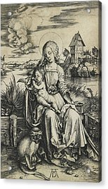 Virgin And Child With The Monkey Acrylic Print