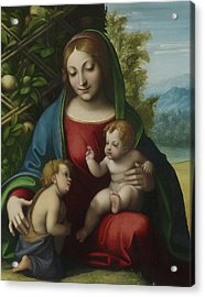 Virgin And Child With The Young Saint John The Baptist Acrylic Print