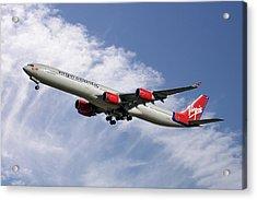 Virgin Atlantic Airbus A340-642 Acrylic Print