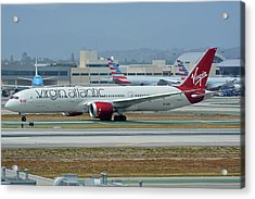 Acrylic Print featuring the photograph Virgin Atlantic Boeing 787-9 G-vzig Los Angeles International Airport May 3 2016 by Brian Lockett