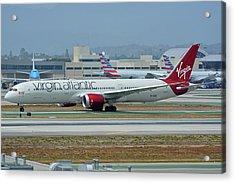 Virgin Atlantic Boeing 787-9 G-vzig Los Angeles International Airport May 3 2016 Acrylic Print by Brian Lockett