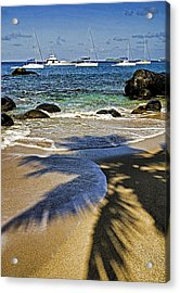 Virgin Gorda Beach Acrylic Print by Dennis Cox WorldViews