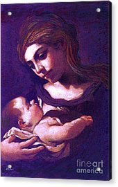 Virgin Mary And Baby Jesus, The Greatest Gift Acrylic Print by Jane Small