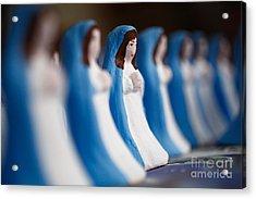 Virgin Mary Acrylic Print by Gaspar Avila