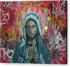 Virgin Mary Acrylic Print by Mike Patino