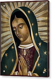 Virgin Of Guadelupe Acrylic Print by Mary jane Miller