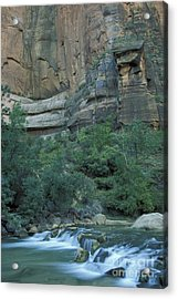 Virgin River In Zion 1 Acrylic Print by Stan and Anne Foster