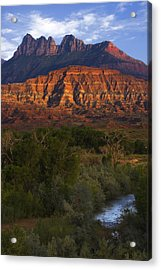 Virgin River Near Zion National Park Acrylic Print by Utah Images