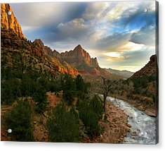 Virgin River Sunset Acrylic Print