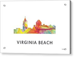 Virginia Beach  Virginia Skyline Acrylic Print by Marlene Watson