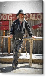 Virginia City Cowboy Acrylic Print