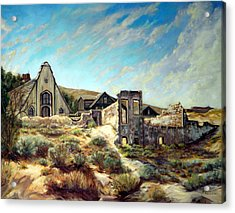 Virginia City Nevada II Acrylic Print by Evelyne Boynton Grierson
