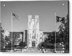 Virginia Tech Burress Hall Acrylic Print by University Icons