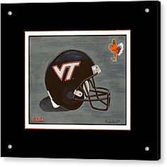 Virginia Tech T-shirt Acrylic Print