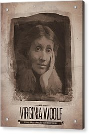Virginia Woolf Acrylic Print by Afterdarkness