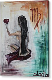 Acrylic Print featuring the painting Virgo by Sladjana Lazarevic