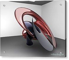 Virtual Sculpture 2 Acrylic Print by Michael Burleigh