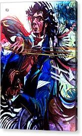 Virtuoso Violinist Acrylic Print by Jose Roldan Rendon