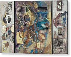 Acrylic Print featuring the painting Visible Traces by Kerryn Madsen-Pietsch