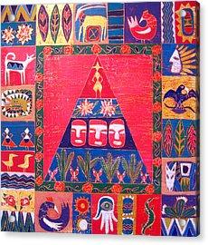 Vision Of Mexico Acrylic Print by Aliza Souleyeva-Alexander
