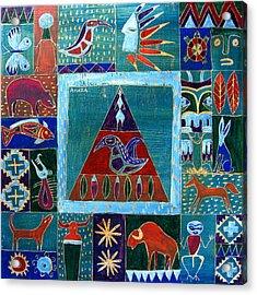 Vision Of Native North America Acrylic Print by Aliza Souleyeva-Alexander