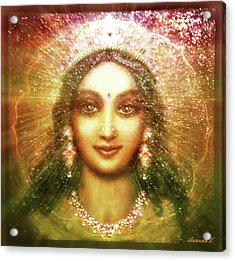 Vision Of The Goddess  Acrylic Print by Ananda Vdovic