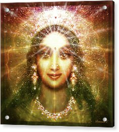 Vision Of The Goddess - Light Acrylic Print by Ananda Vdovic
