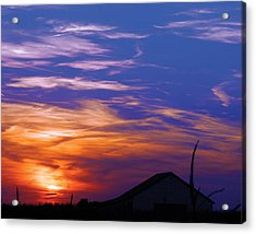 Visionary Sunset Acrylic Print by Carl Perry
