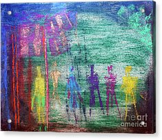 Visions Of Future Beings Acrylic Print
