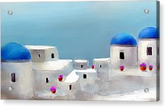 Visions Of Greece Acrylic Print by Larry Cirigliano