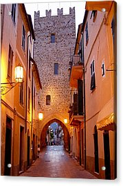 Acrylic Print featuring the photograph Visions Of Italy Archway by Nancy Bradley