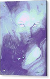 Acrylic Print featuring the painting Visions Of The Night by Denise Fulmer