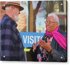 Acrylic Print featuring the photograph Visit - Conversation by Nikolyn McDonald
