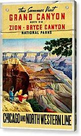 Visit Grand Canyon - Folded Acrylic Print