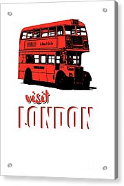 Visit London Tee Acrylic Print by Edward Fielding