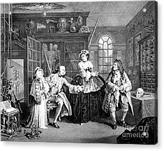 Visit To The Quack Doctor, 1745 Acrylic Print by Science Source