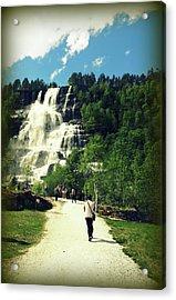 Visit To Tvindefossen Falls Acrylic Print