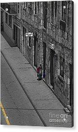 Visiting Neighbors In Cuenca Ecuador Acrylic Print by Al Bourassa