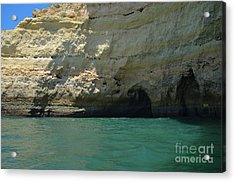 Visiting The Cliff Caves In Carvoeiro 2 Acrylic Print