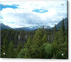 Vistas Along The Alcan Acrylic Print by Janet  Hall