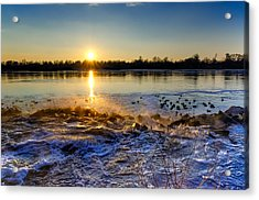 Vistula River Sunset 3 Acrylic Print