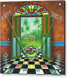 Vitrales Campesino Acrylic Print