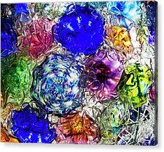 Vitreous Flora Acrylic Print by Gary Holmes