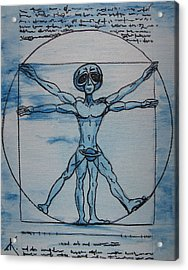 Vitruvian Alien Acrylic Print
