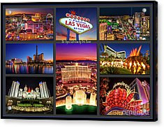 Viva Las Vegas Collection Acrylic Print