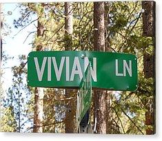 Vivian Lane Acrylic Print by Dan Whittemore
